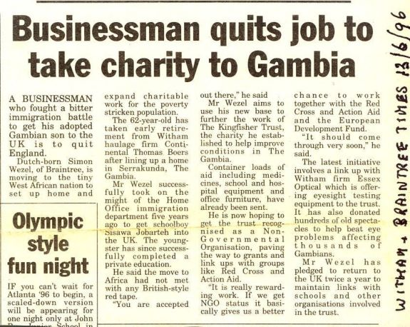 Businessman quits job to take charity to Gambia