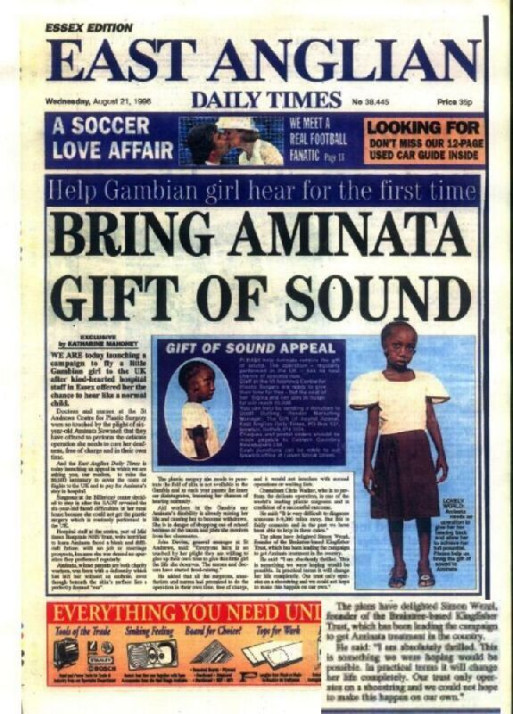 WE ARE today launching a campaign to fly a little Gambian girl to the UK after kind-hearted hospital staff in Essex offered her the chance to hear like a normal child